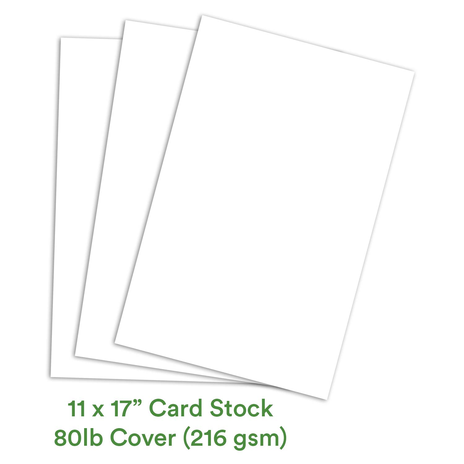 white card stock paper  11 x 17 inch smooth thick heavy