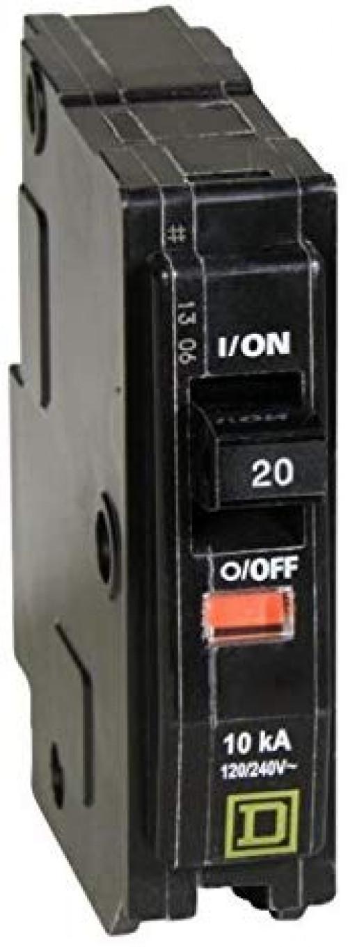 SQUARE D QO120 20 AMP 1POLE CIRCUIT BREAKER 120//240 VOLT new 10 count